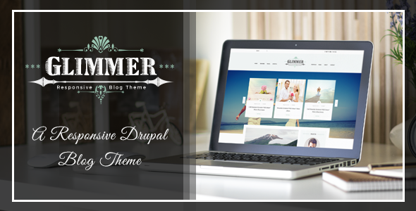 Image of Glimmer - A Responsive Drupal Blog Theme