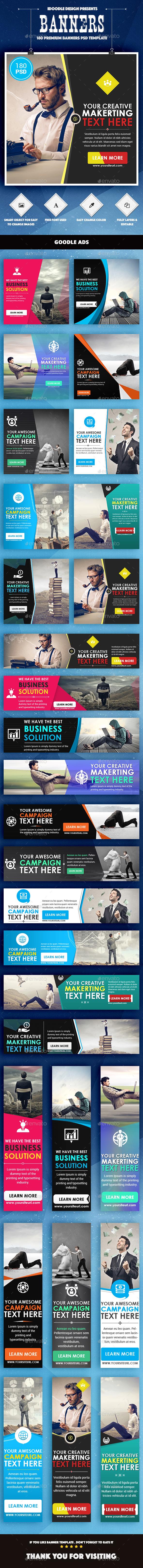Bundle Multipurpose Banners Ads - 10 Sets - Banners & Ads Web Elements