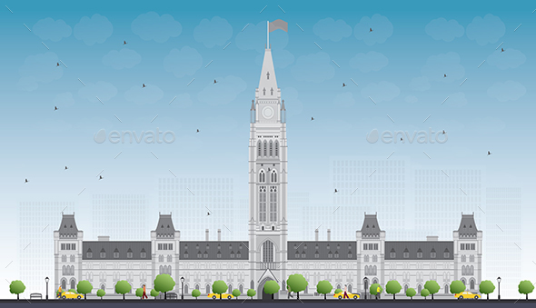 Parliament Building in Ottawa, Canada. - Buildings Objects