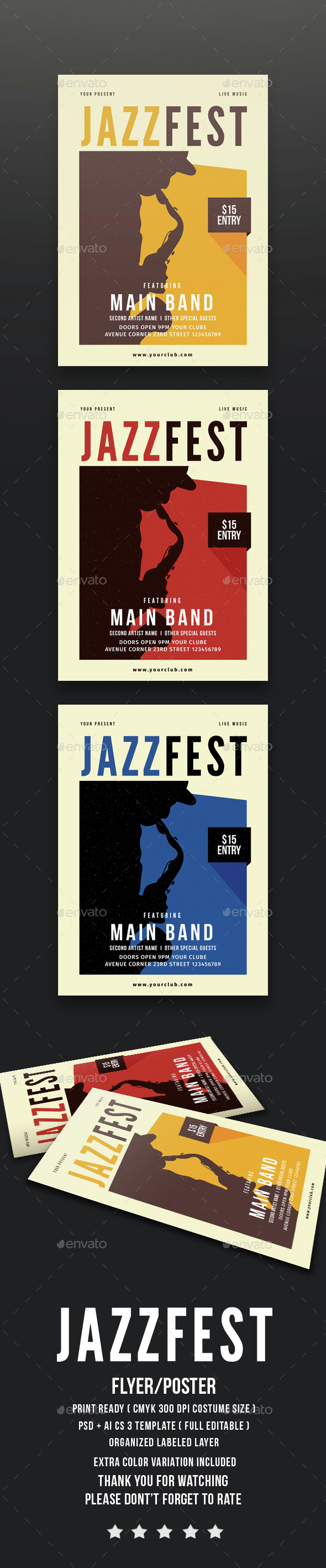 Jazz Festival Flyer - Concerts Events