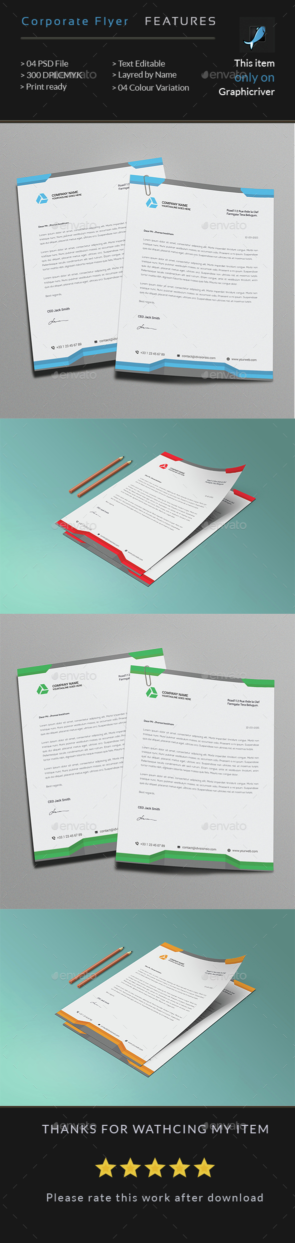 Corporate Business latterhead - Resumes Stationery