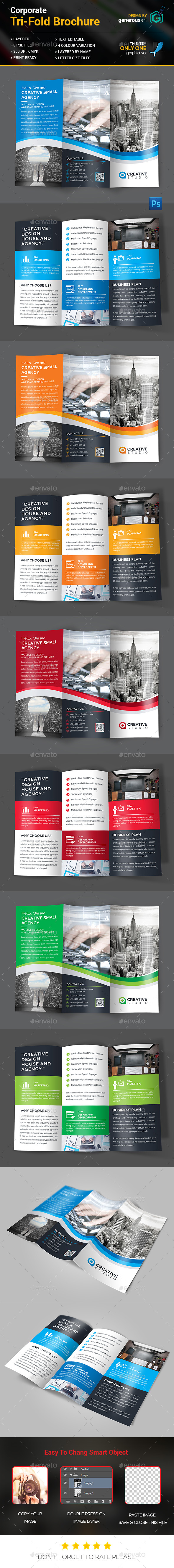 Creative Tri-Fold Brochure - Corporate Brochures