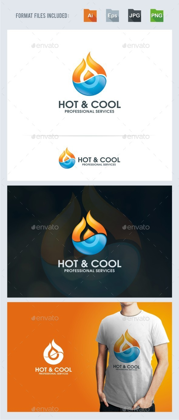 Hot And Cool Logo Template - Abstract Logo Templates