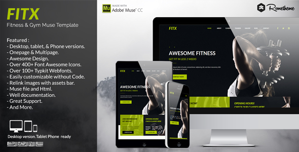 FitX – Fitness & Gym Muse Template