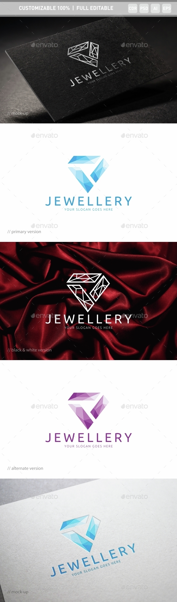 Jewellery Logo Template - Objects Logo Templates