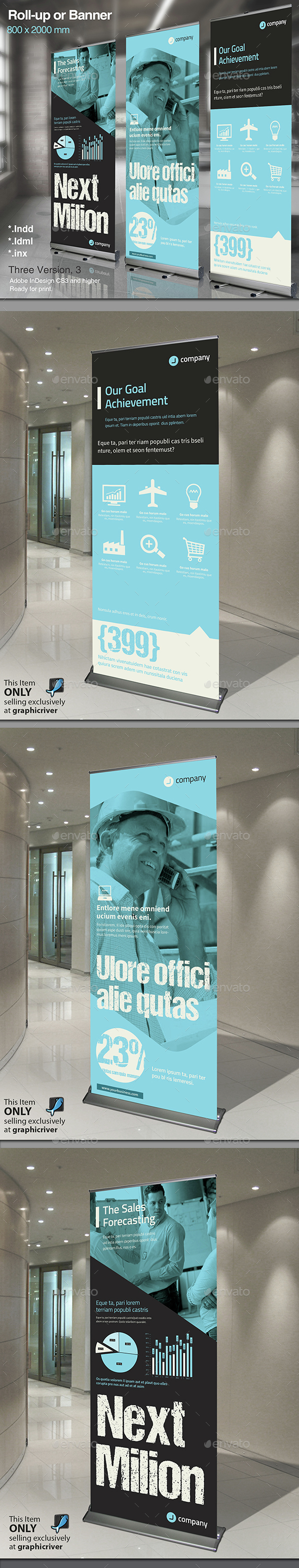 Corporate Roll-up or Banner Vol. 4 - Signage Print Templates