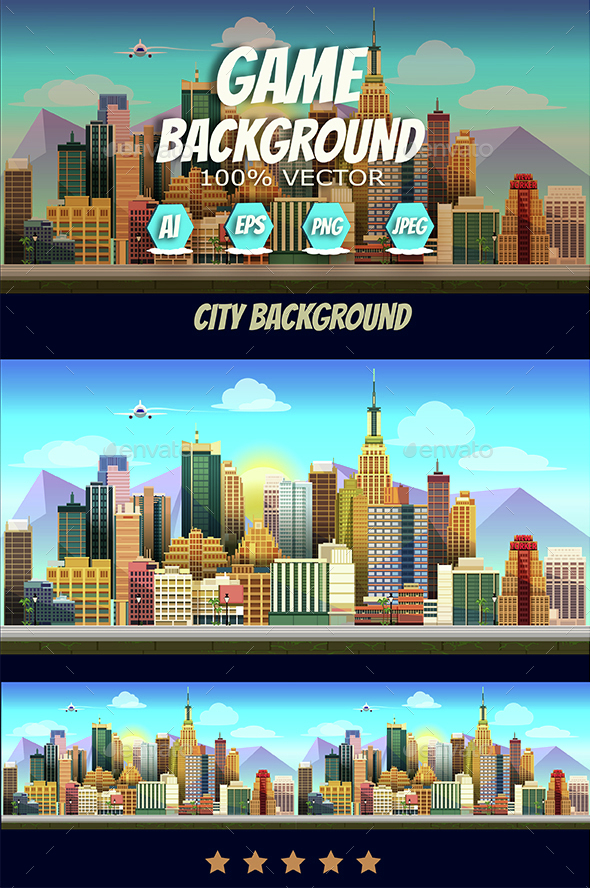 City Game Background - Backgrounds Game Assets