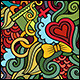 2 Love Doodles Seamless Pattern - GraphicRiver Item for Sale