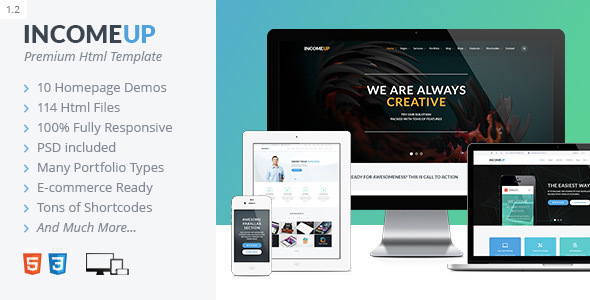 IncomeUp – Multi-purpose Business HTML Template - Creative Site Templates
