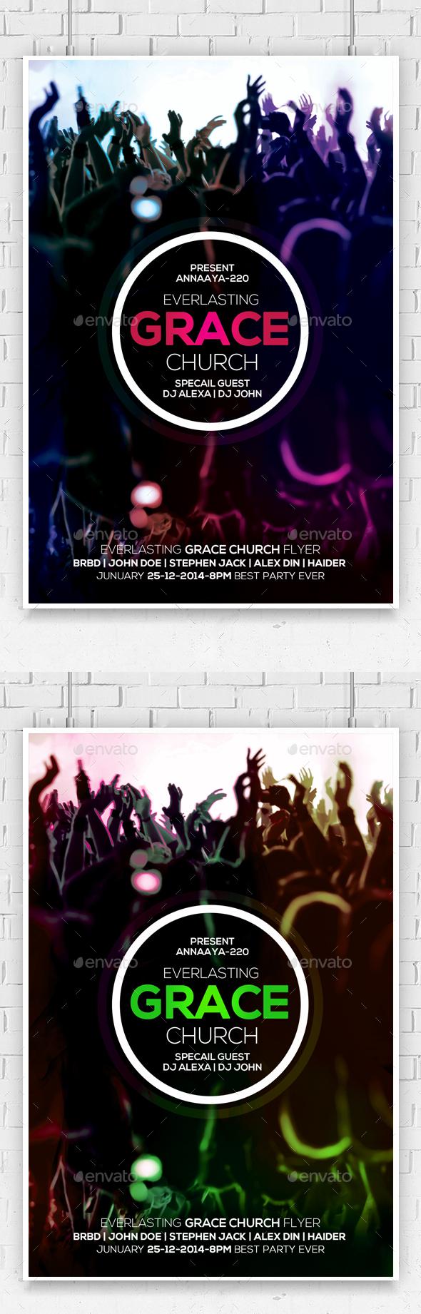 Everlasting Grace Church Flyer  - Church Flyers