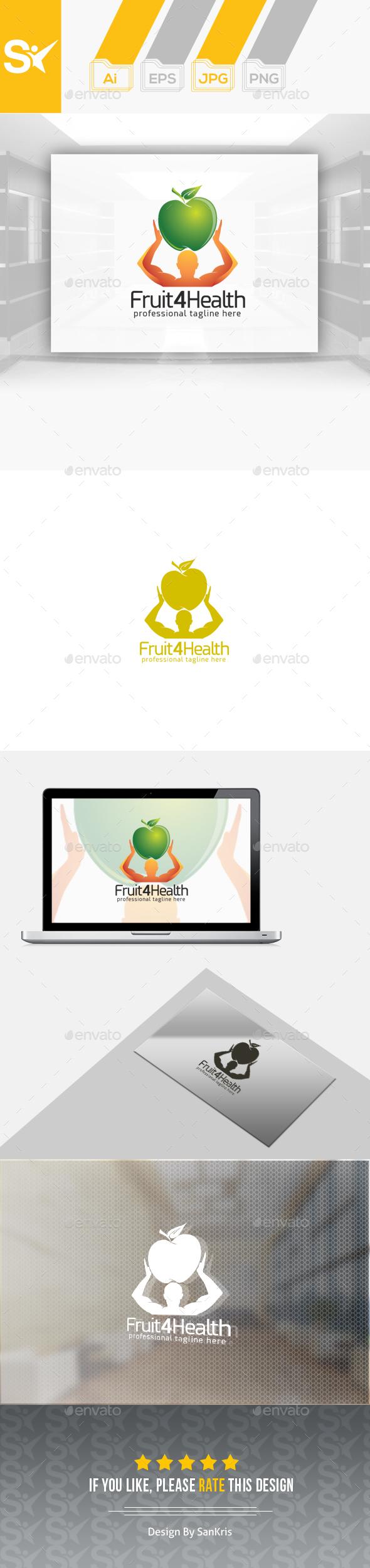 Fruit For Health Logo - Humans Logo Templates