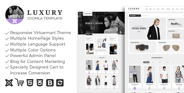 Luxury – Responsive Virtuemart Theme