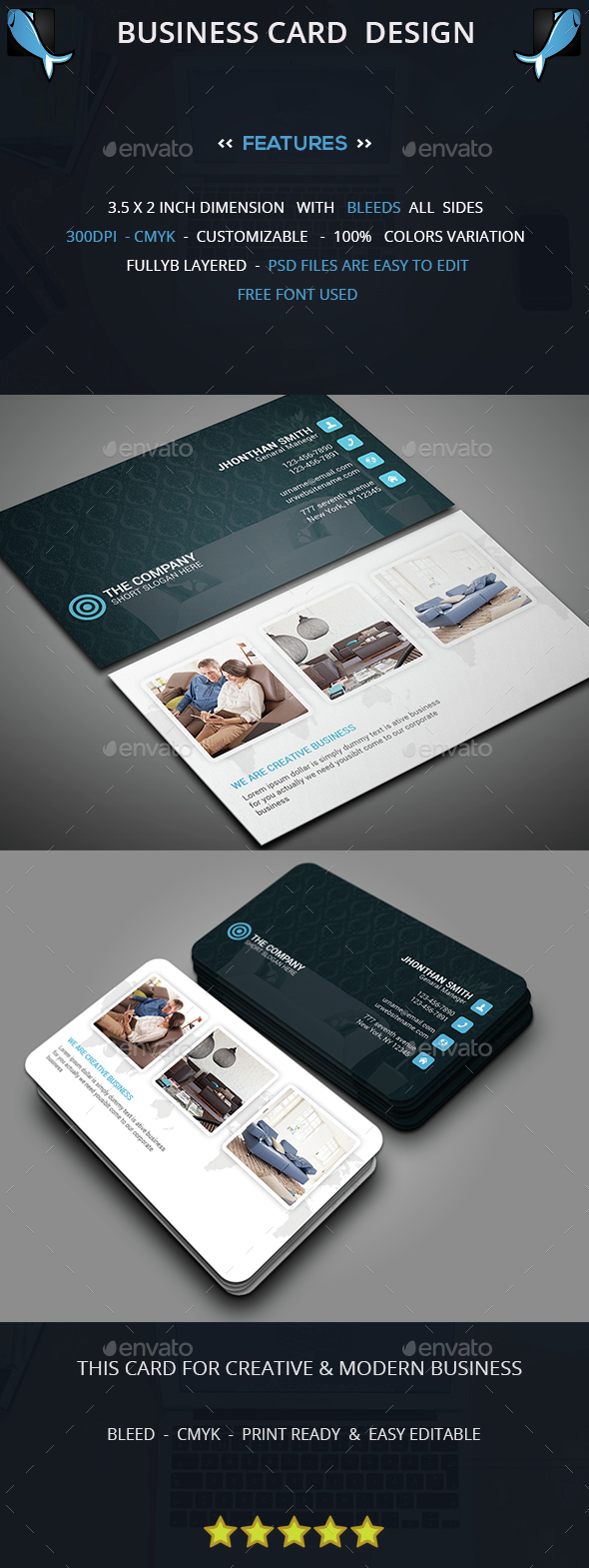 Hotel Business Card - Corporate Business Cards