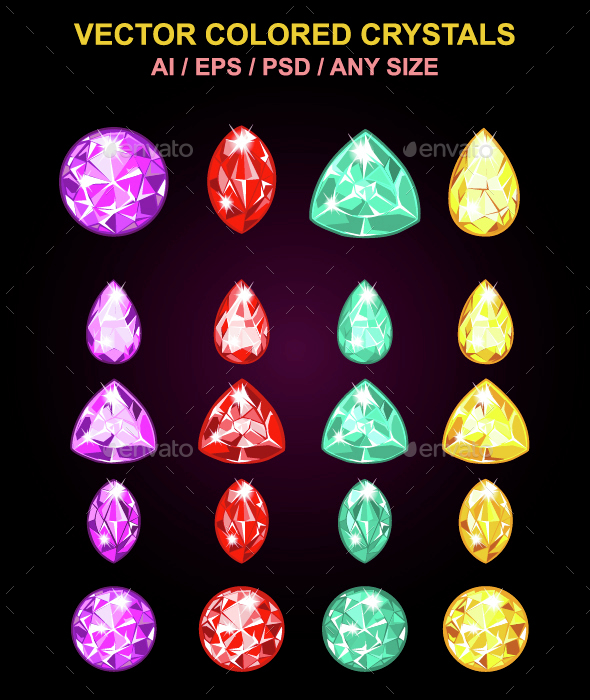 Colored Crystals - Miscellaneous Characters
