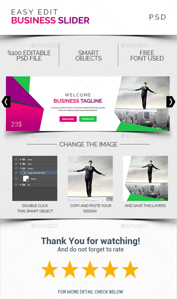 Business Slider 001 - Sliders & Features Web Elements
