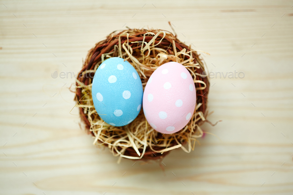 Two Easter eggs - Stock Photo - Images