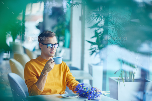Coffee in cafe - Stock Photo - Images