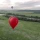 Flight Of Behind Red Hot Air Balloon - VideoHive Item for Sale