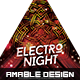 Electro Night Party Flyer - GraphicRiver Item for Sale