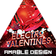 Electro Valentines Party Flyer - GraphicRiver Item for Sale