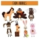 Set Of Cute Cartoon Animals And Birds Of The Farm - GraphicRiver Item for Sale
