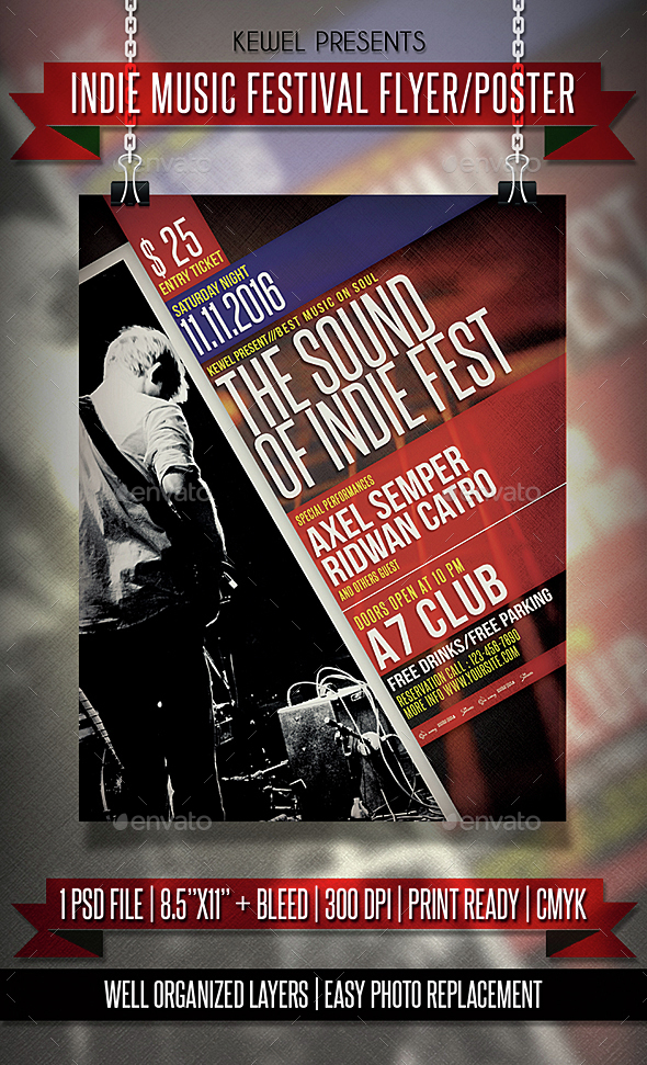 Indie Music Festival Flyer / Templates - Events Flyers