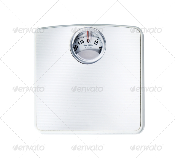 Bathroom scale - Stock Photo - Images