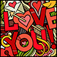 2 I Love You Doodles Backgrounds - GraphicRiver Item for Sale