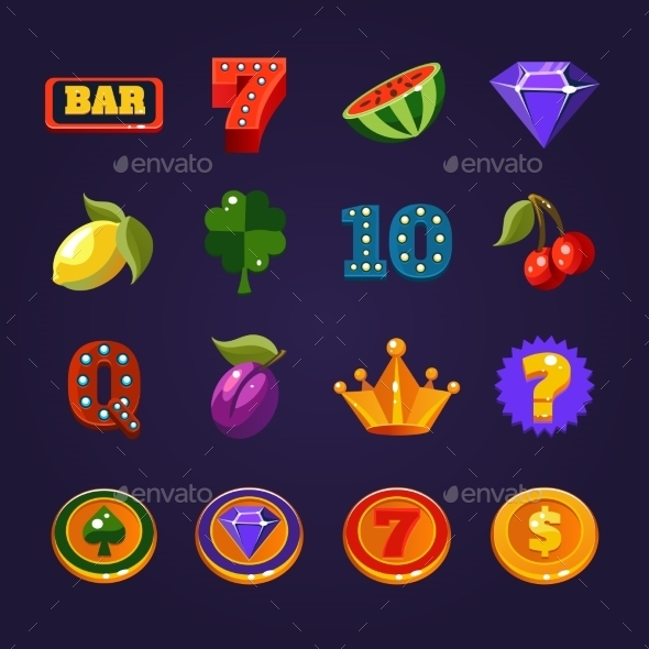 Vector Slot Machine Symbols Set - Miscellaneous Vectors