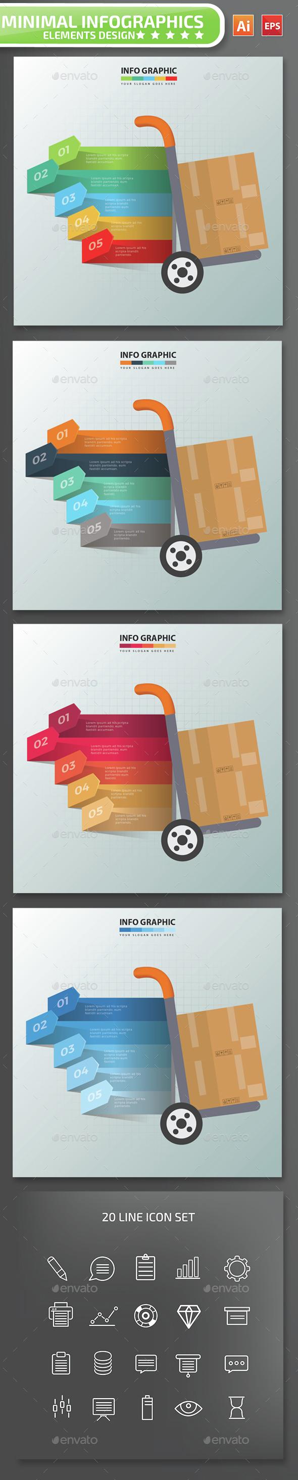 Minimal Cargo Infographics Design - Infographics