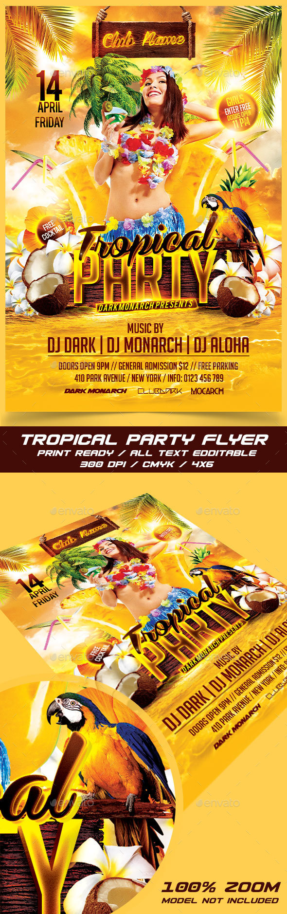 Tropical Party - Events Flyers