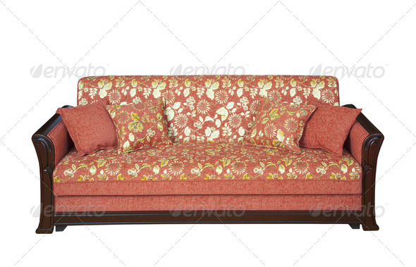Wooden sofa - Stock Photo - Images