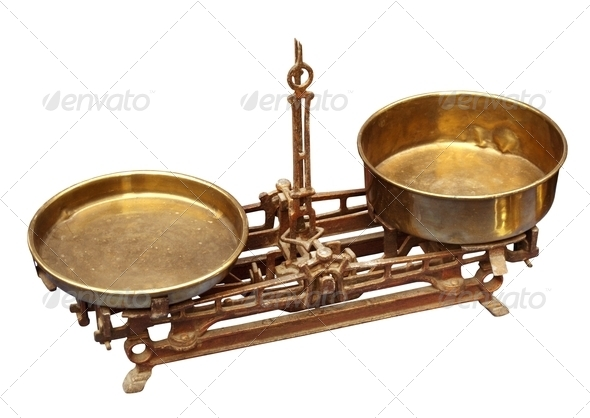 Vintage balance scale - Stock Photo - Images