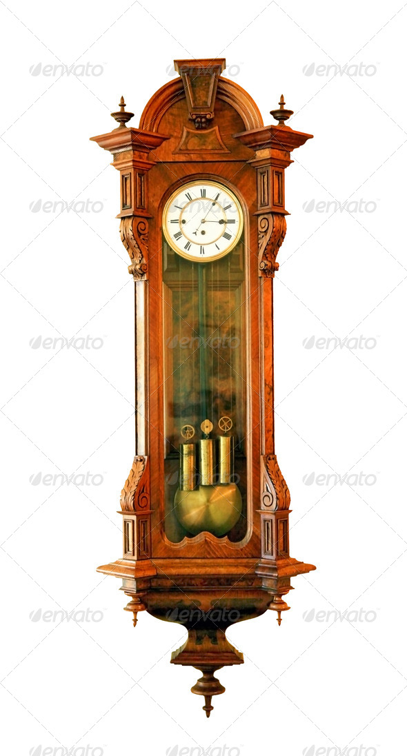 Antique clock - Stock Photo - Images