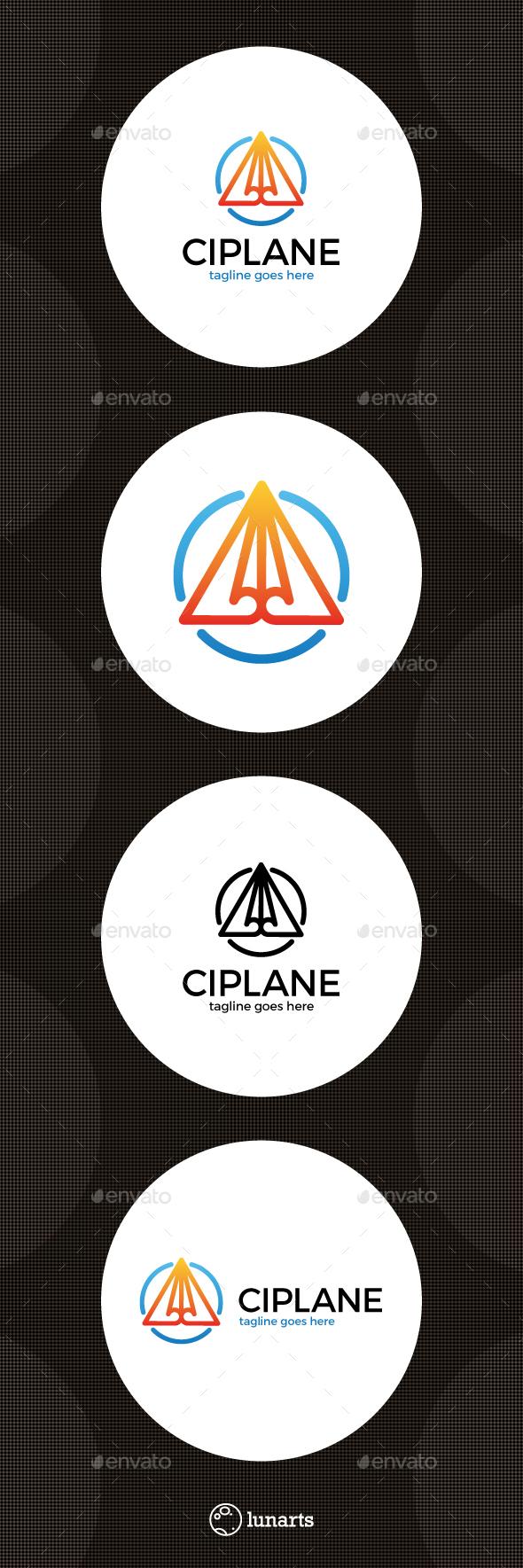Line Paper Plane Logo - Symbols Logo Templates