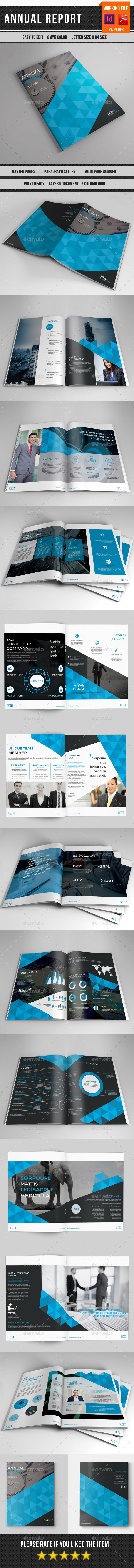 Annual Report | Indesign Template-V354 - Corporate Brochures