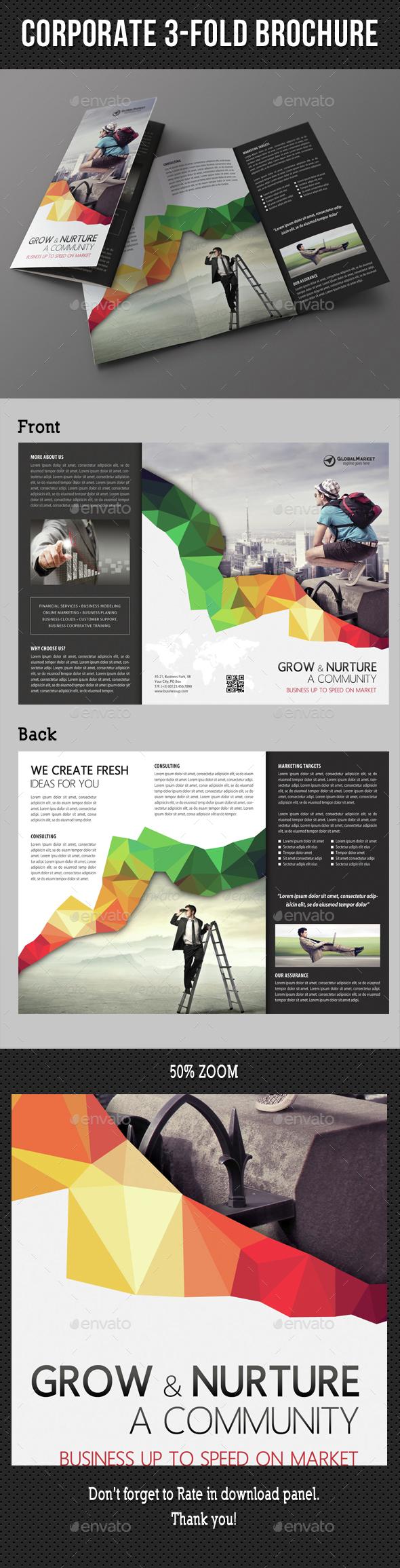 Corporate Business 3-Fold Brochure - Corporate Brochures