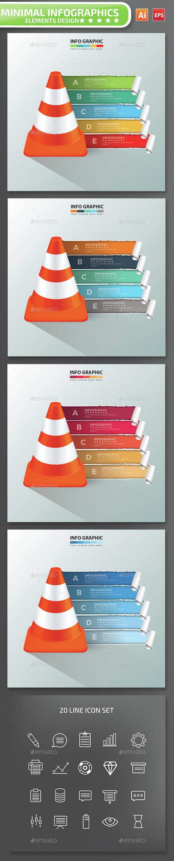 Minimal Cone Infographics Design - Infographics