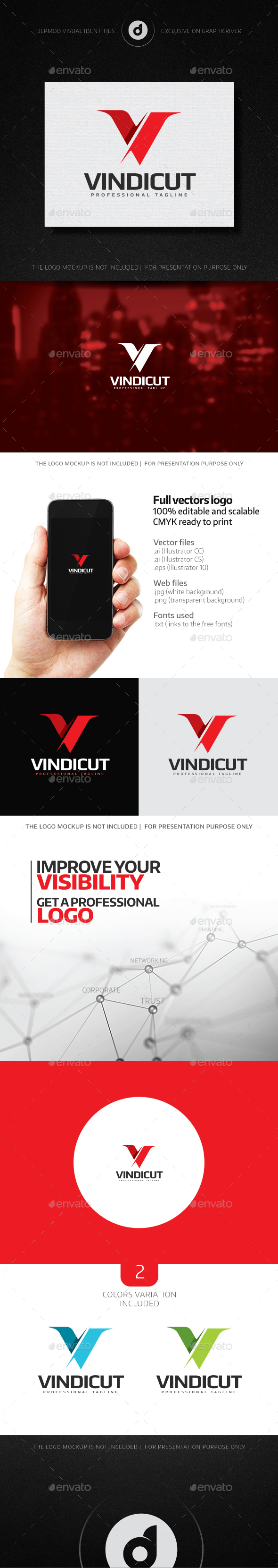 Vindicut Logo - Letters Logo Templates