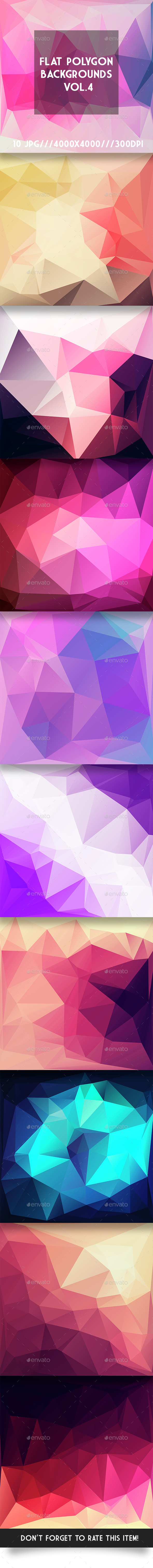 Flat Polygon Backgrounds Vol.4 - Abstract Backgrounds