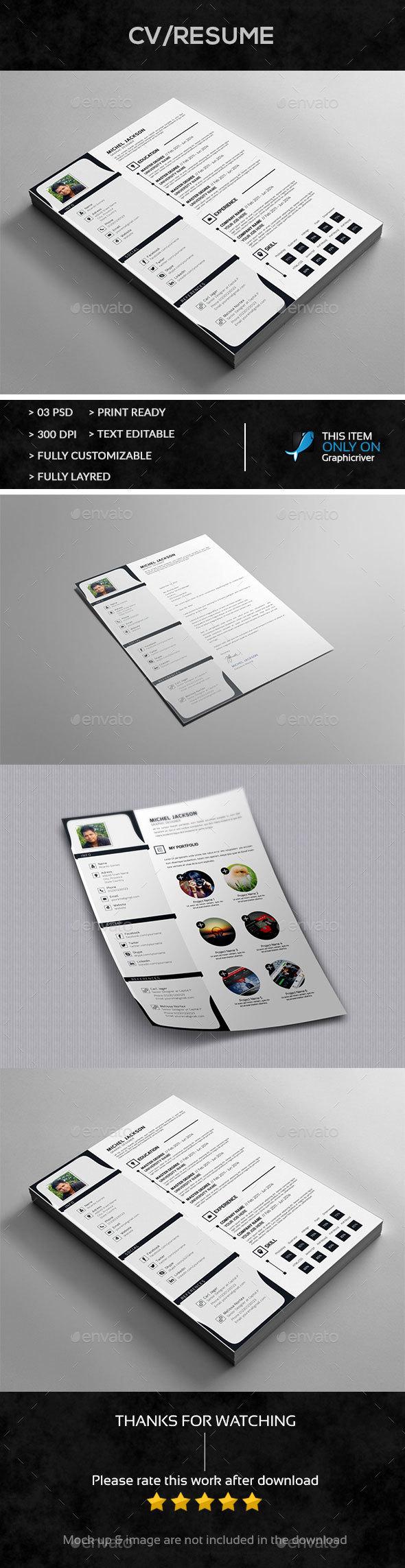 Resume+Cover Letter+Portfolio Design - Resumes Stationery