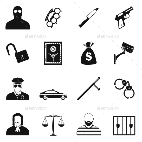 Crime Simple Icons - Miscellaneous Icons