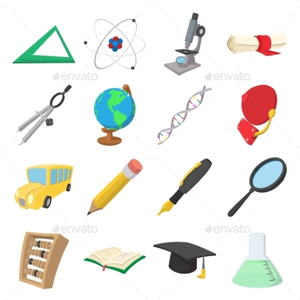 Education Cartoon Icons - Miscellaneous Icons