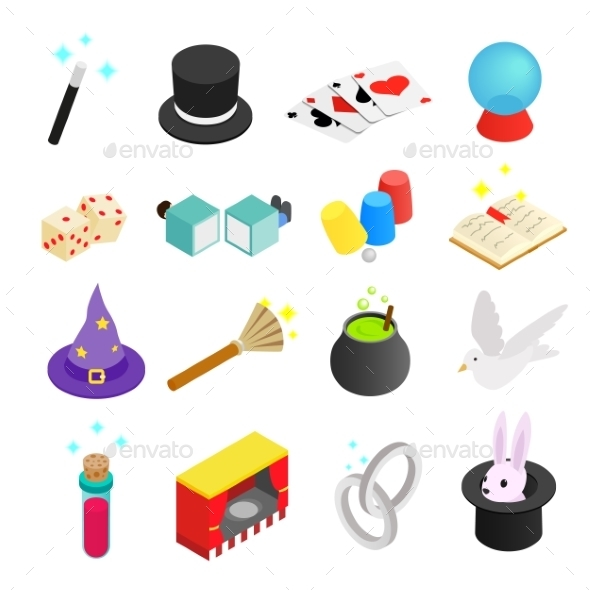 Magic Isometric 3d Icon - Miscellaneous Icons