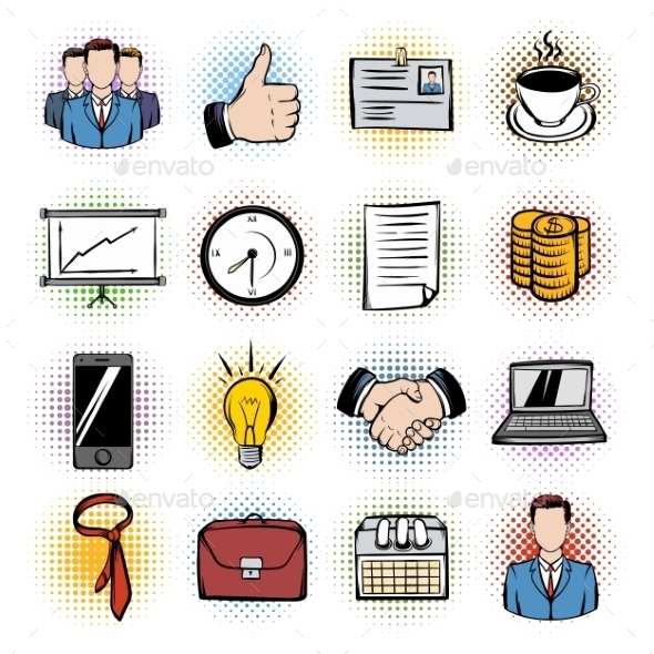 Business Comics Icons - Miscellaneous Icons