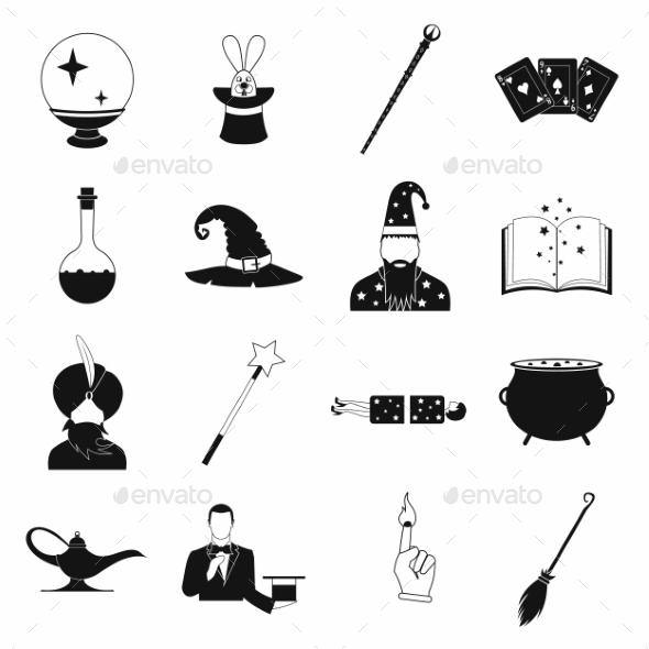 Magic Simple Icons Set - Miscellaneous Icons