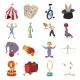 Circus Show Icons Cartoon Collection - GraphicRiver Item for Sale
