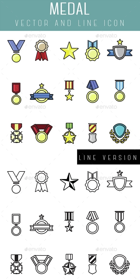 Medals Icon - Objects Icons