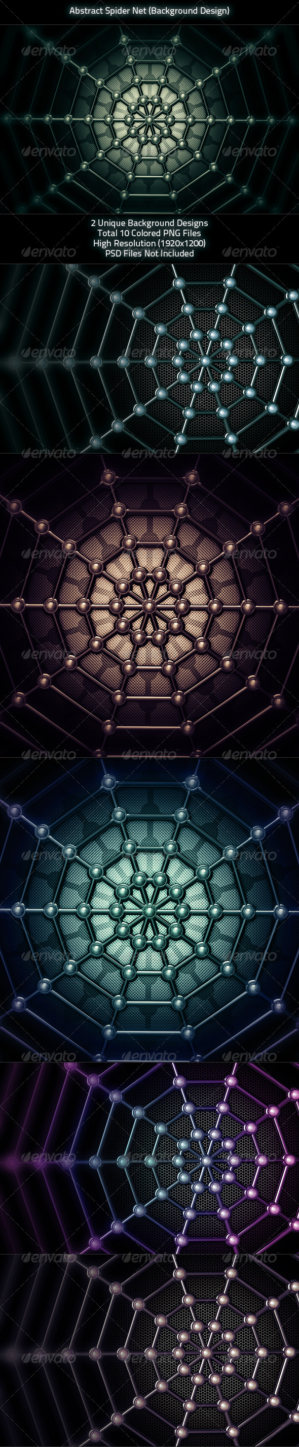 Abstract Spider Net  - 3D Backgrounds
