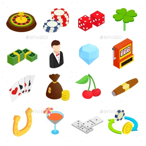 Casino Isometric 3d Icons - Miscellaneous Icons